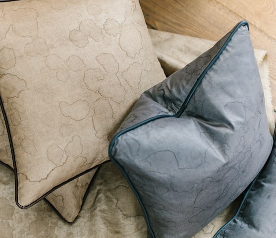 Dappled Beetle Cushions by AUTHOR: the home of British-made luxury furniture and interior accessories