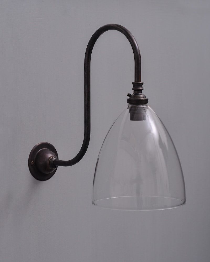 Ledbury Swan Neck Wall Light by Fritz Fryer for AUTHOR: the home of British-made luxury homeware