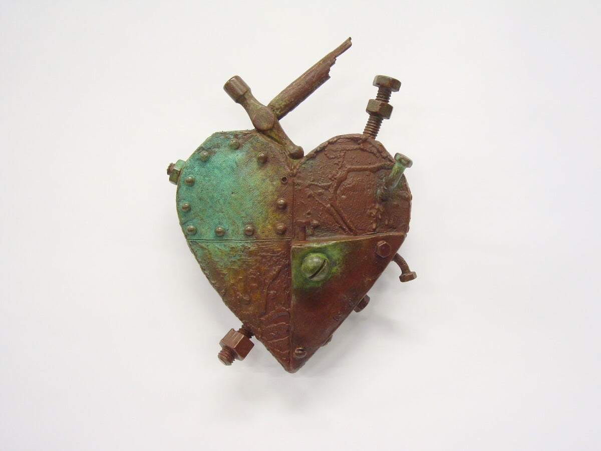 'Titantic Heart' bronze sculpture by Kris Copeland for AUTHOR