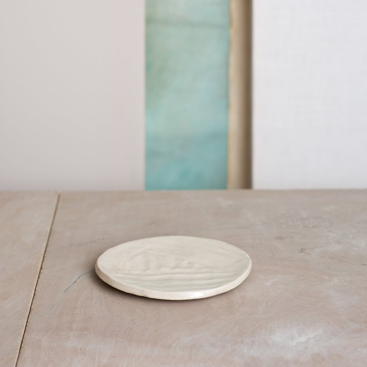 Kana White Sand Medium Side Plate by KANA London for AUTHOR's collection of unique home decor