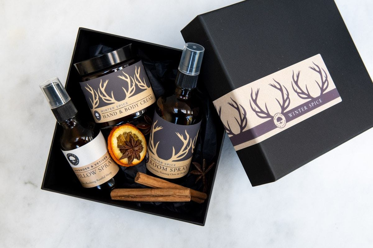 Winter Spice Gift Set by Made On Our Farm for AUTHOR's unique collection of British-made gifts