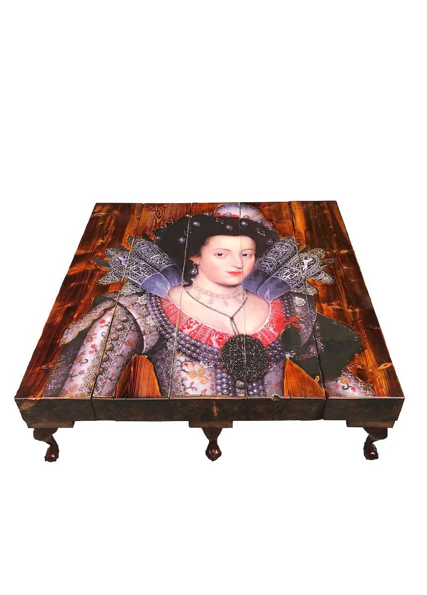 Grand Winter Queen Coffee Table by Cappa E Spada for AUTHOR's collections of British-made, luxury furniture