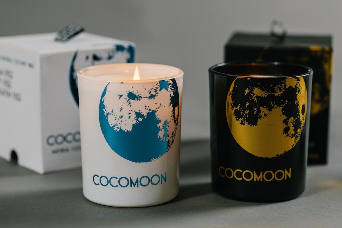 Hand poured coconut wax candles made by Cocomoon for AUTHOR Interiors