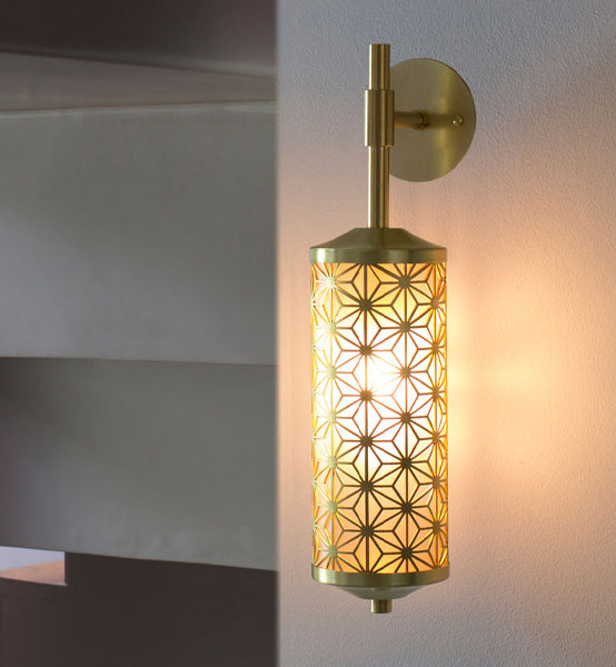 Deco Wall Light by Fosbery Studio in satin brass for AUTHOR's collection of British made luxury wall lights