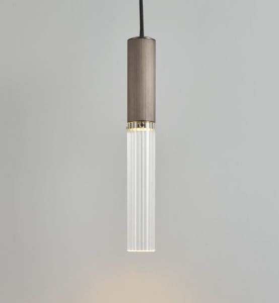 Flume 50 Pendant Light by J. Adams & Co for AUTHOR's collection of British made luxury bronze pendant lighting