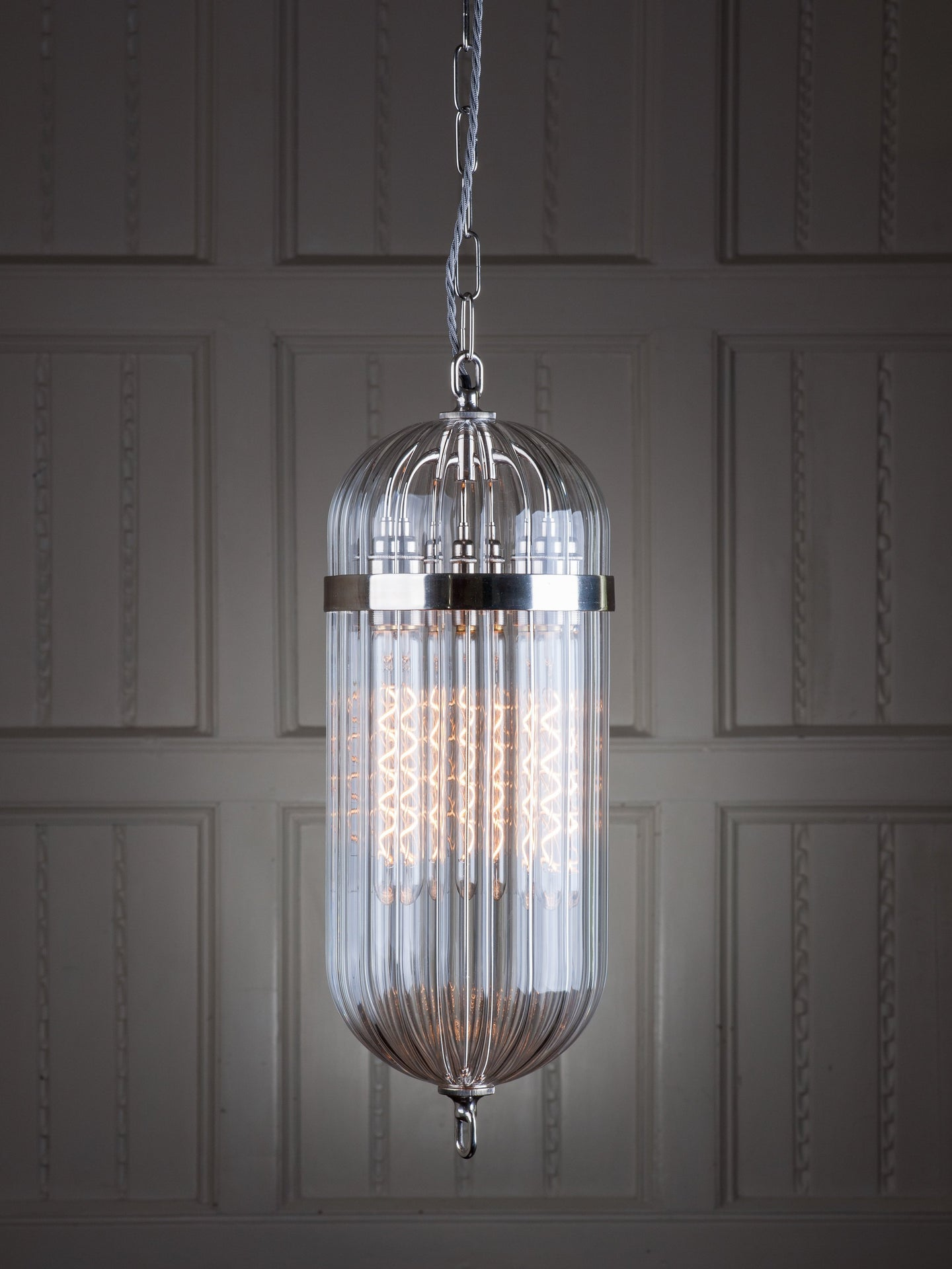 Antique Lantern in Nickel by Fritz Fryer for AUTHOR: the home of British-made furniture