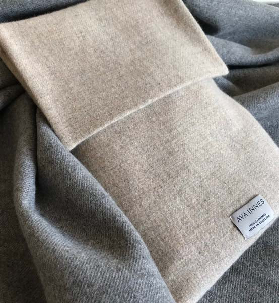 Cashmere Hot Water Bottle Cover by AVA INNES for AUTHOR's collection of British-made luxury homeware accessories
