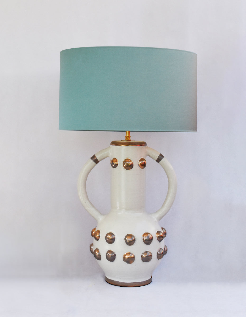 luxury ceramic white and gold lamp Kinkatou AUTHOR Interiors