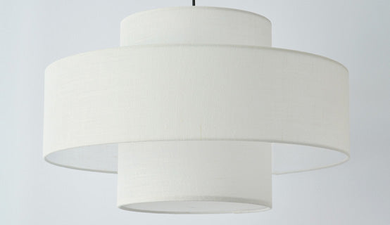 Luna Pendant Lampshade made in Kent by Fosbery Studio for AUTHOR Interiors' collection of British made high quality ceiling  pendant lampshades
