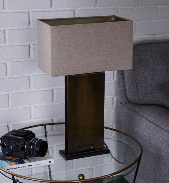 Manhattan Table Lamp made in Kent by Fosbery Studio for AUTHOR Interiors' collection of British made high quality table lamps