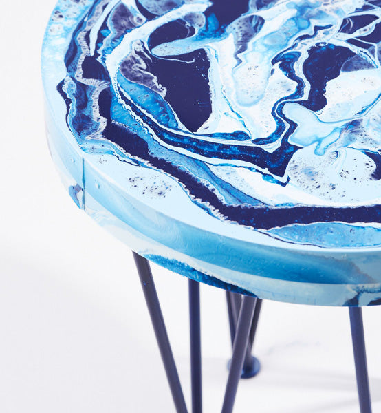 MarbleSil™ Stool by British designer Hannah Williams Studio for AUTHOR Interiors' collection of British made unique luxury furniture