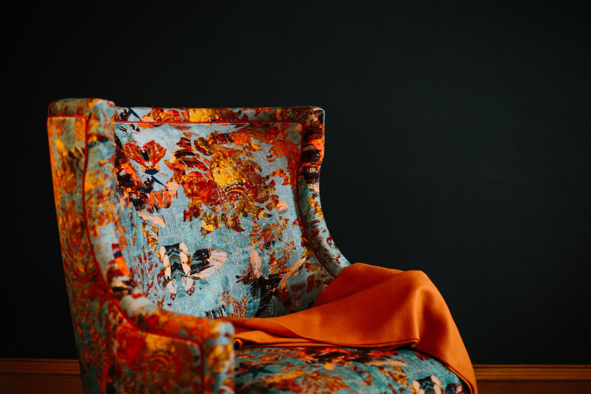 Mary Velvet Chair - British Made Armchair - Blackpop Velvet - AUTHOR