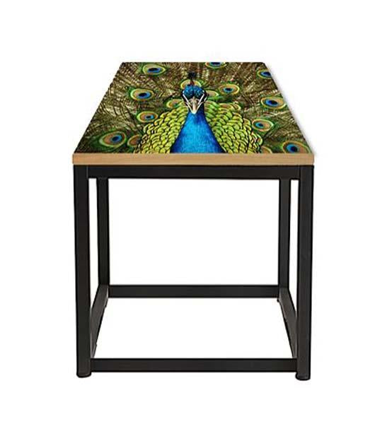 Peacock Side Table handcrafted by Cappa E Spada for AUTHOR's collection of British-made unique and contemporary side tables