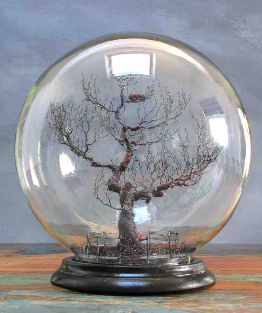 'To Protect' wire tree sculpture by British artist Joy Gray for AUTHOR