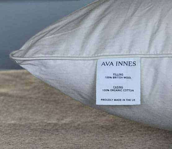 Soft & Full Wool Pillow by AVA INNES for AUTHOR's collection of British-made luxury bedding and pillows