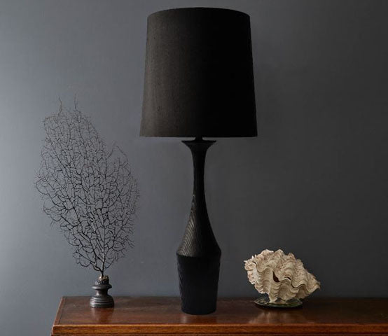 Taza Scorched Table Lamp made in Kent by Fosbery Studio for AUTHOR Interiors' collection of high quality British made luxury table lamps