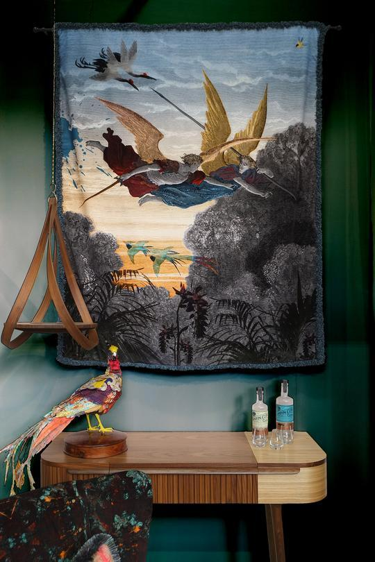 Paradise Found Velvet Wall Hanging by Blackpop for AUTHOR's luxury collection of British-made home accessories