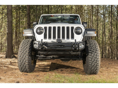 Rugged Ridge Front Recovery Bumper, Arcus, w/ Winch Tray & Tow Hooks , JL wrangler (11549.04)