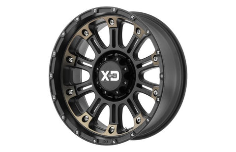 17x9 XD Series Hoss 2 S/Black D/Clear Coat 5x127 ET-12