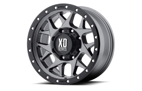 18x9 XD Series Bully Matte Grey with Black Ring 5x127 ET18