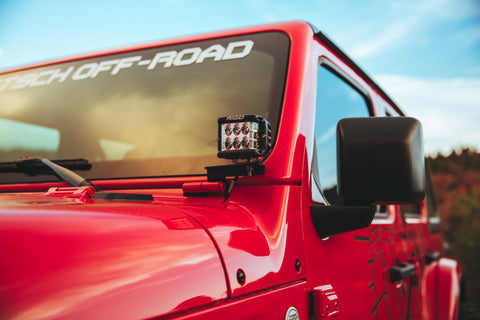 RIGID INDUSTRIES JL WRANGLER A-PILLAR LIGHT BRACKETS