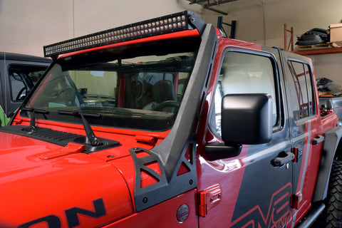 "DV8 Offroad LBJL-01 50"" Light Bar Mounting Bracket Pair for 18-20 Jeep Wrangler JL & Gladiator JT"
