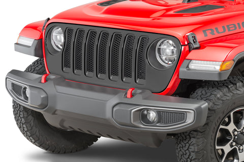 Mopar 82215114 Satin Black Grille for 18-20 Jeep Wrangler JL