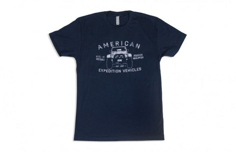 AEV Built in Detroit Tee — Navy