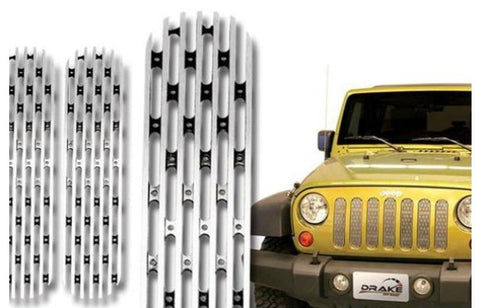 JEEP JK GRILL INSERTS POLISHED