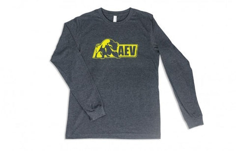AEV Long Sleeve Logo Tee — Grey