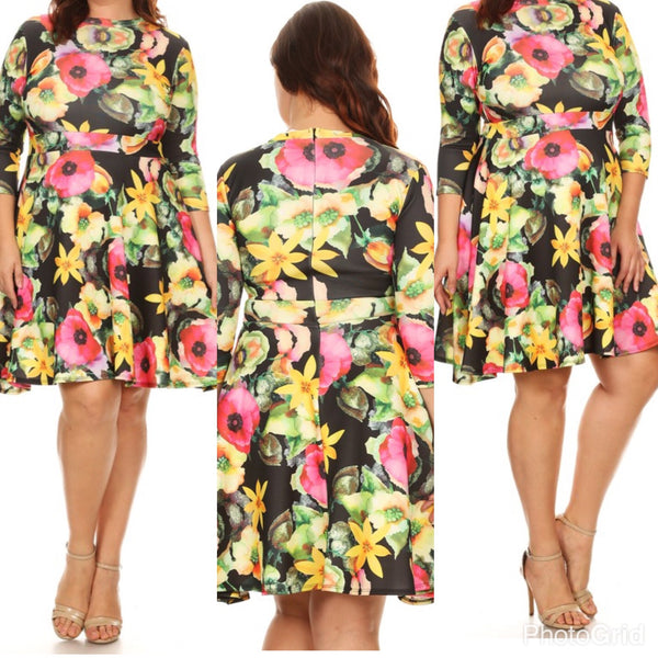 SPRING INTO FASHION-BLACK FLORAL