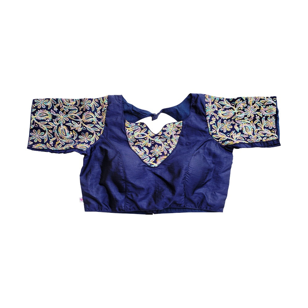 Traditional multi-color embroidery blouse