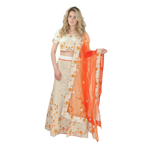 Sensational lehenga dress - Orange - Chiro's By Jigyasa