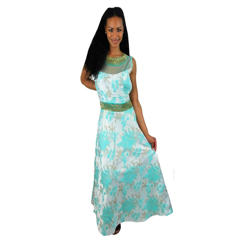Embellished Party dress in pastel color - Chiro's By Jigyasa