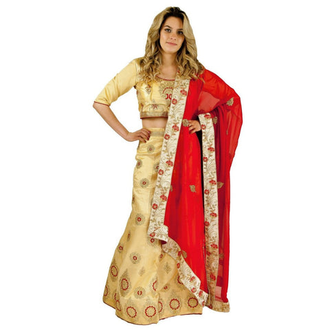 Trendsetting Party lehenga - Cream - Chiro's By Jigyasa