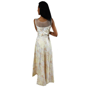 Embellished Party dress in White and gold - Chiro's By Jigyasa