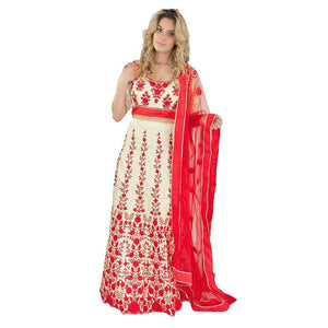 Versatile Party Lehenga - Red - Chiro's By Jigyasa