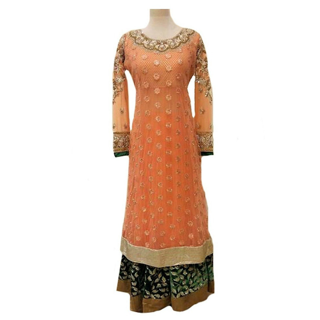 One of a kind heavy designer Anarkali suit - Bollywood - Chiro's By Jigyasa