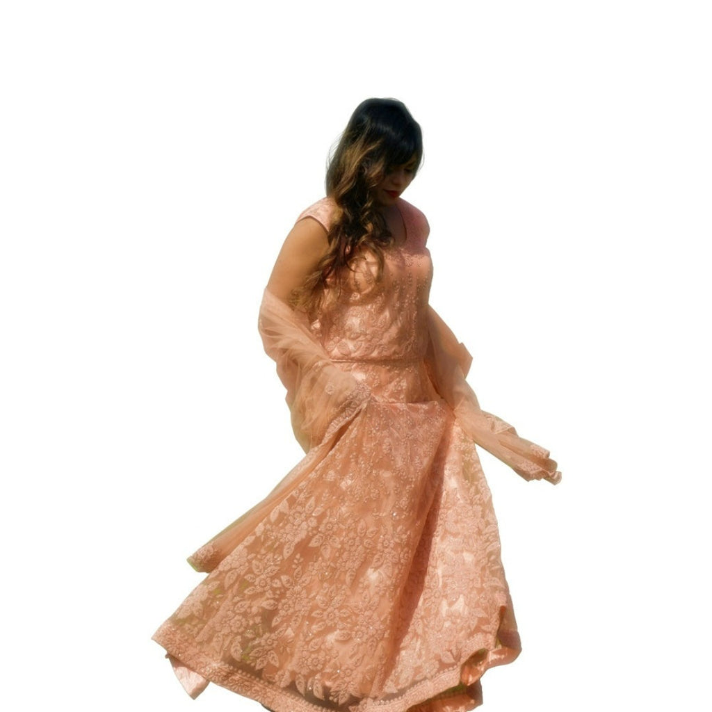 Georgous Moti work anarkali dress