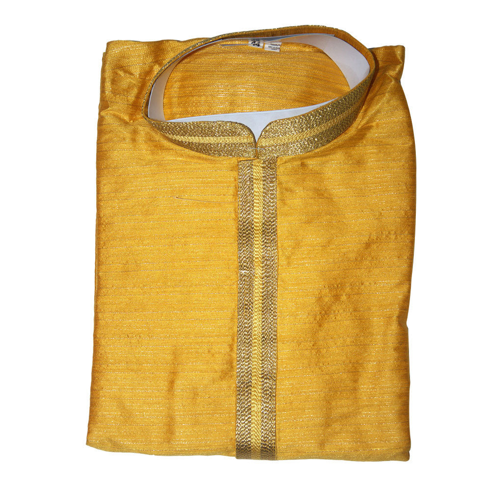 Silk Kurta with a round Neck