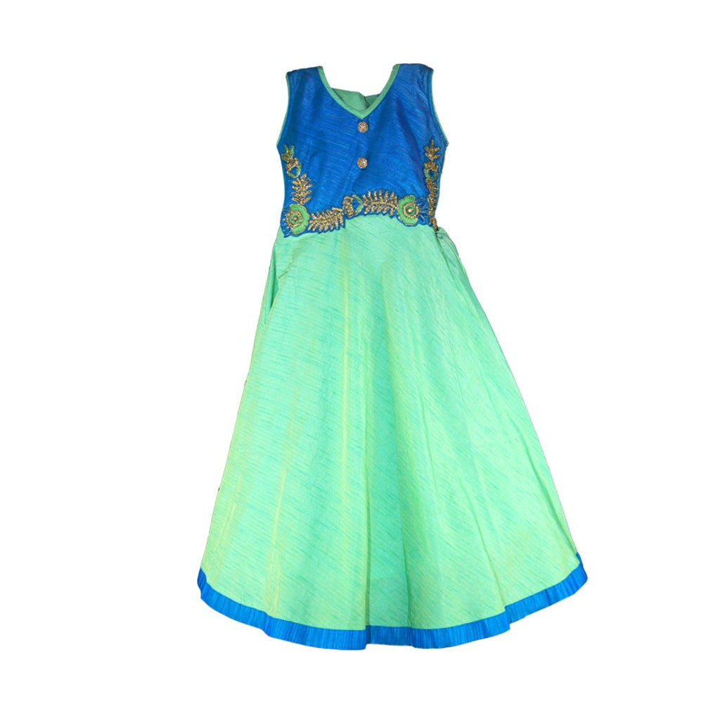 Green and Blue anarkali  for girls