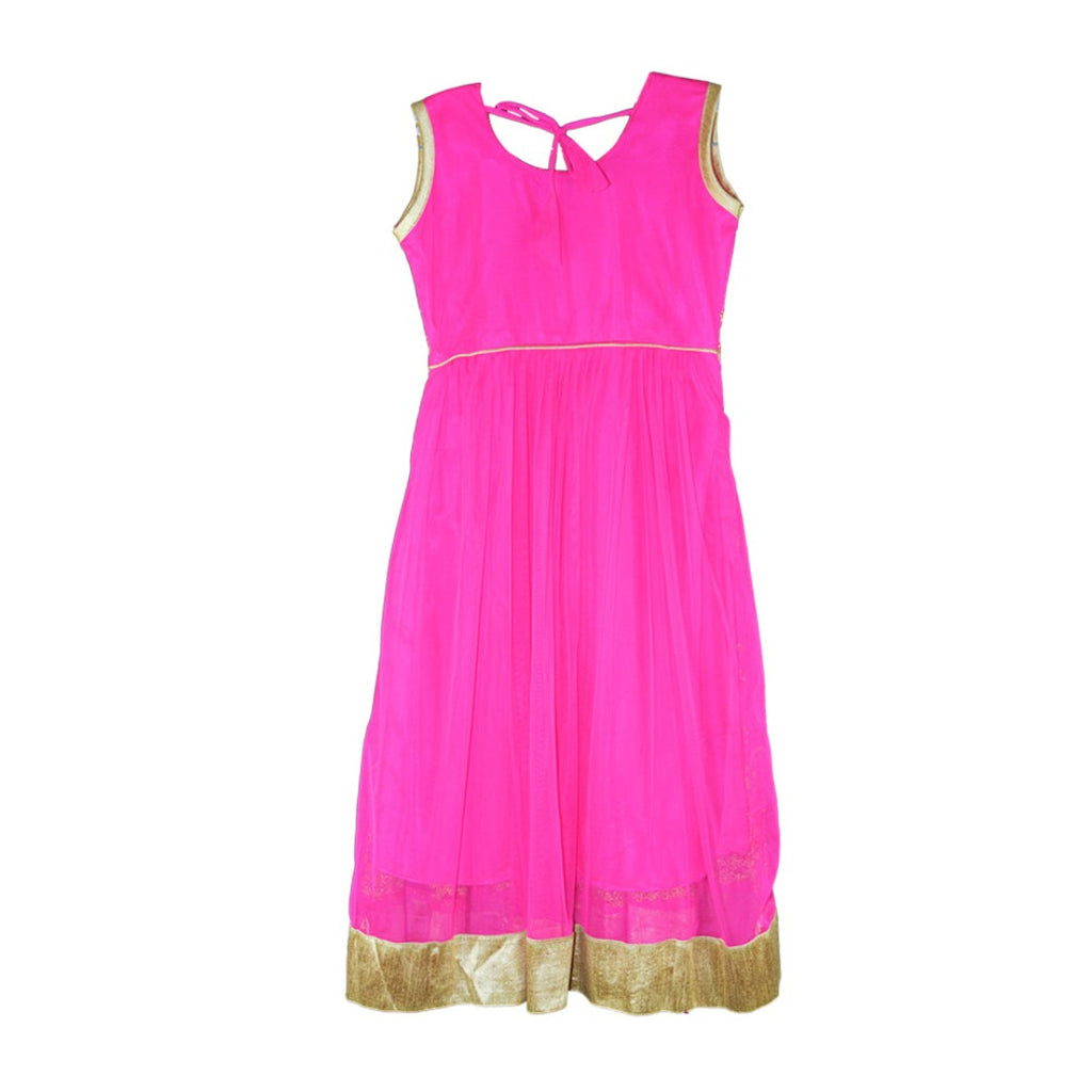 Bright Pink anarkali  for girls