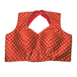 Red contemporary sleeveless  Blouse