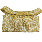 Gold Boat neck  Blouse