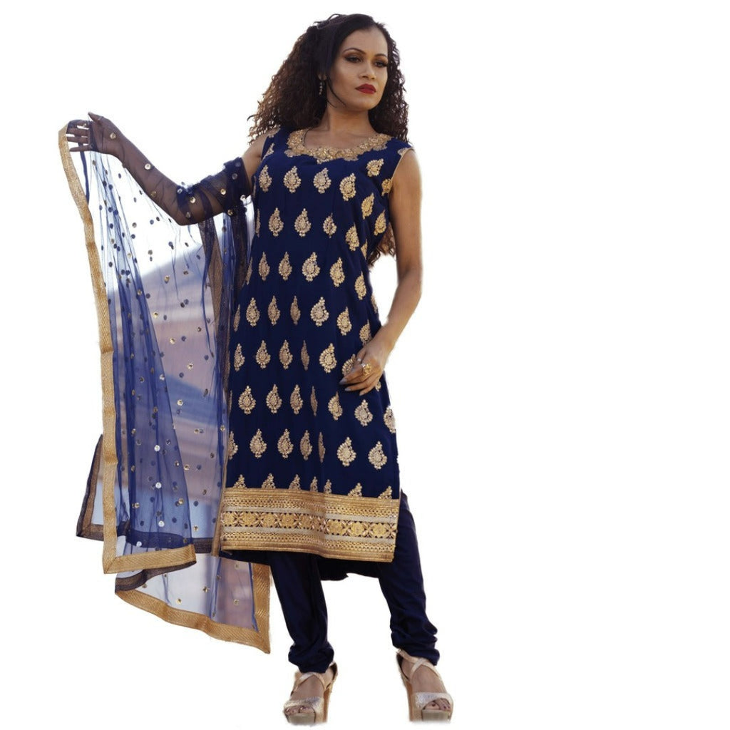 Navy Blue Extra large chudidar dress