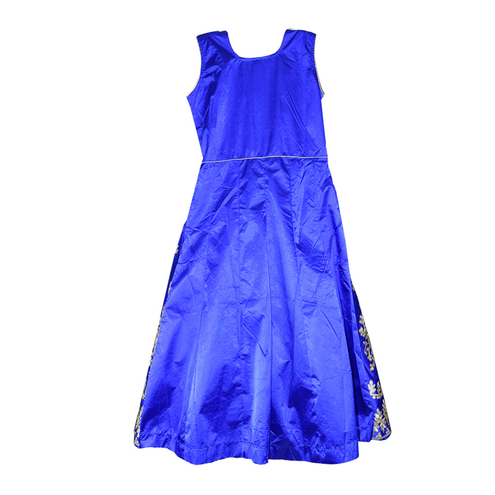 Blue Embroidered Anarkali for girls