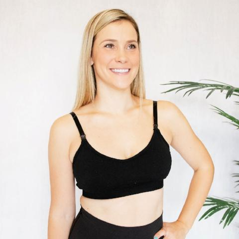 The Stretch&Sweep Nursing Bra [Black]