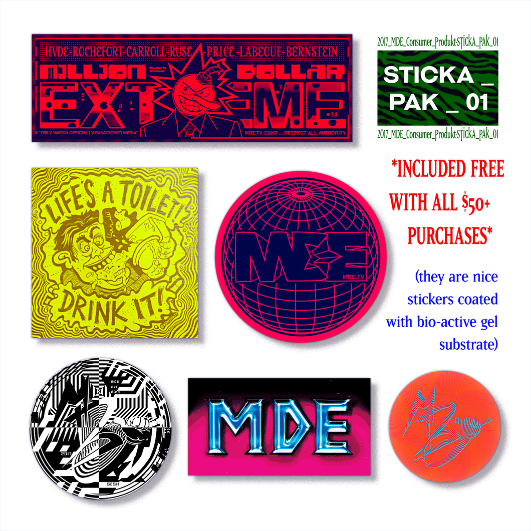 MDE_Sticka_Pak_01 (six MDE sticker pack)