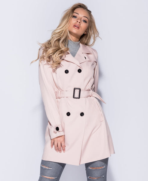 DOWNTOWN TRAIN TRENCH COAT (NUDE)