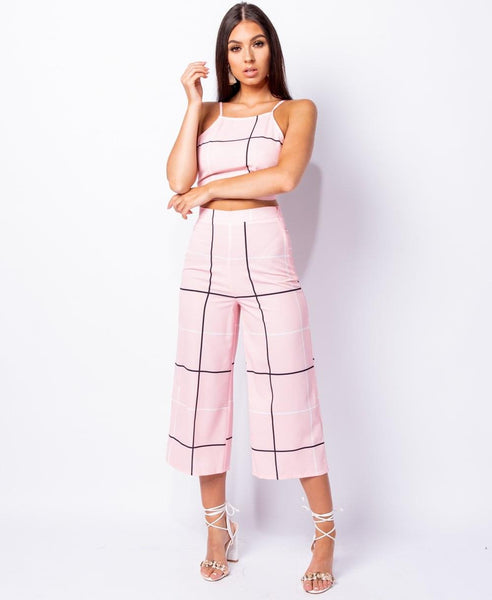 TWO PIECE CHECKERED SET